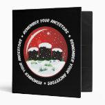 Remember Your Ancestors Snow Globe Vinyl Binder