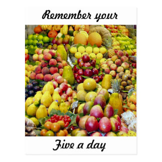 Remember your five a day postcards