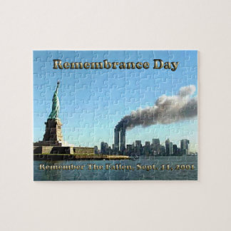 Rememberance Day 911 Sept. 11, 2001 Jigsaw Puzzle