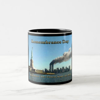 Rememberance Day 911 Sept. 11, 2001 Two-Tone Coffee Mug