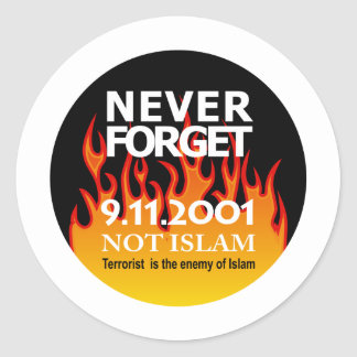 Rememberance Sept 11 2001 Classic Round Sticker