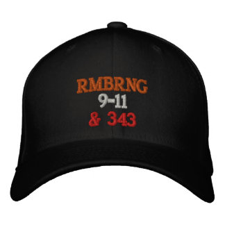 Remembering 9-11 embroidered baseball cap