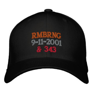 Remembering 9-11 embroidered baseball hat