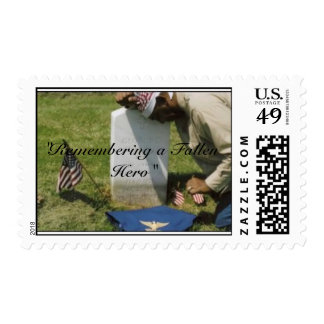 """""""Remembering a Fallen Hero"""" Postage Stamp"""