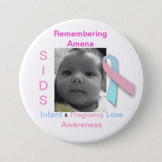 Remembering Amena Pinback Button