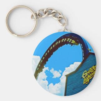 Remembering Astro World Amusement Park Basic Round Button Keychain