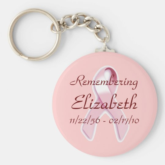 """""""Remembering_____"""" Breast Cancer Awareness Keychain"""