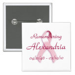 """Remembering ____"" Breast Cancer Awareness Pins"