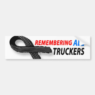 Remembering fallen truckers bumper sticker