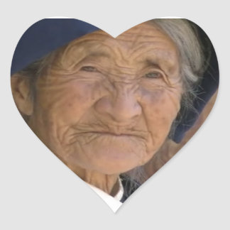 Remembering GRANDMA Chinese Holly HO from Yunnan Heart Sticker