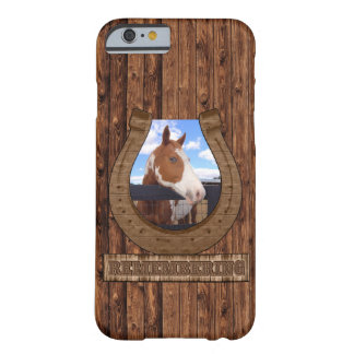 Remembering Horseshoe Photo with Barnwood Barely There iPhone 6 Case