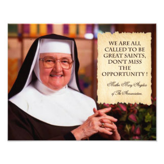 REMEMBERING MOTHER ANGELICA. PHOTO PRINT