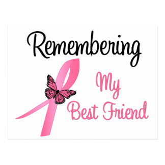 Remembering My Best Friend Breast Cancer Awareness Post Card