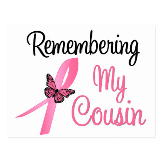 Remembering My Cousin - Breast Cancer Awareness Postcards