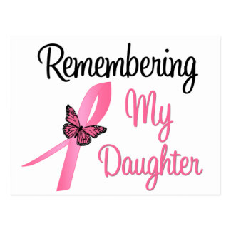 Remembering My Daughter - Breast Cancer Awareness Postcards