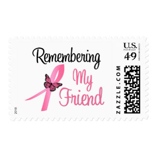 Remembering My Friend - Breast Cancer Awareness Postage