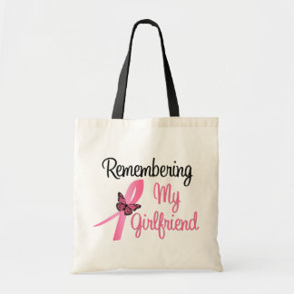 Remembering My Girlfriend - Breast Cancer Tote Bags
