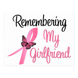 Remembering My Girlfriend - Breast Cancer Post Cards