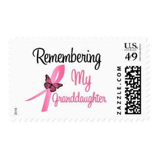 Remembering My Granddaughter - Breast Cancer Postage Stamp
