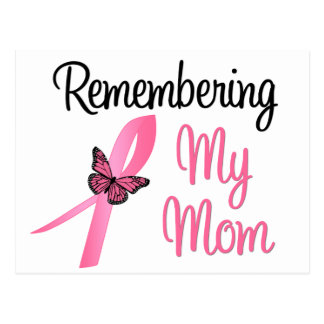Remembering My Mom - Breast Cancer Awareness Postcard