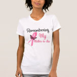 Remembering My Mother-in-Law - Breast Cancer T-shirt