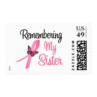 Remembering My Sister - Breast Cancer Awareness Postage Stamps