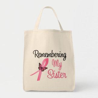Remembering My Sister - Breast Cancer Awareness Tote Bag
