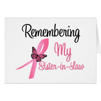 Remembering My Sister-in-Law - Breast Cancer Card