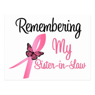 Remembering My Sister-in-Law - Breast Cancer Post Card