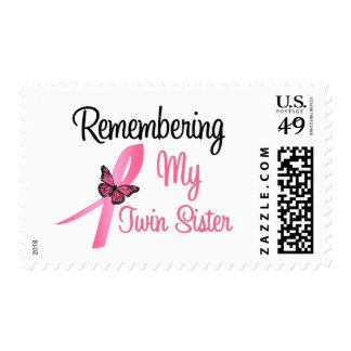 Remembering My Twin Sister - Breast Cancer Postage Stamps