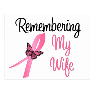 Remembering My Wife - Breast Cancer Awareness Post Card