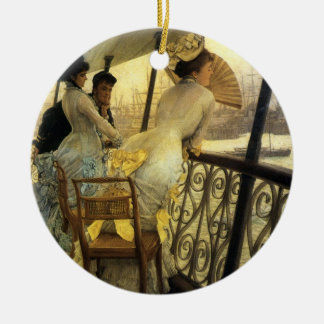 Remembering the Ball on Shipboard Ceramic Ornament