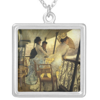 Remembering the Ball on Shipboard Silver Plated Necklace