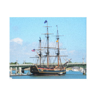 Remembering the HMS Bounty Canvas Print