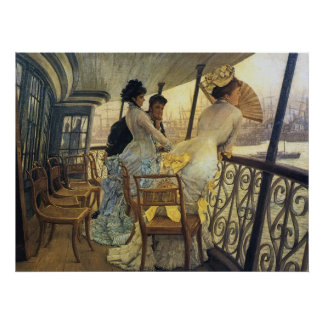 Remembrance Ball On Board, by James Tissot Print