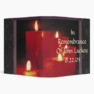 Remembrance Candles & Vines 3 Ring Binder