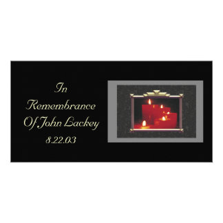 Remembrance Candles Vines Custom Photo Card