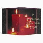 Remembrance Candles & Vines Vinyl Binders