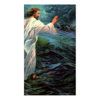 Remembrance Card: Matthew 14:29-30 Business Card Templates