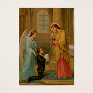Roman catholic business cards templates zazzle remembrance cards happy is the soul business card colourmoves