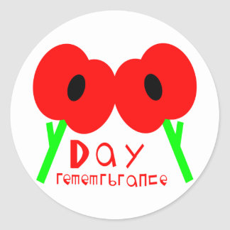 Remembrance Day, Armistice Day or Veterans Day Classic Round Sticker