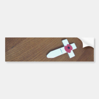 Remembrance Day Cross Bumper Sticker