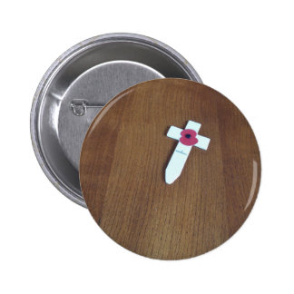 Remembrance Day Cross Button