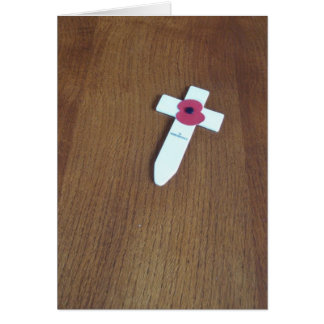Remembrance Day Cross Card