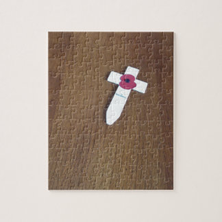 Remembrance Day Cross Jigsaw Puzzle