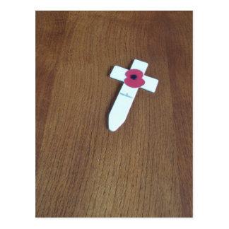 Remembrance Day Cross Postcard
