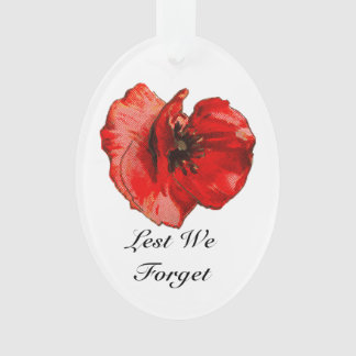 Remembrance day ornament