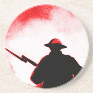 REMEMBRANCE DAY,TROOPS,PAST/PRESENT SANDSTONE COASTER