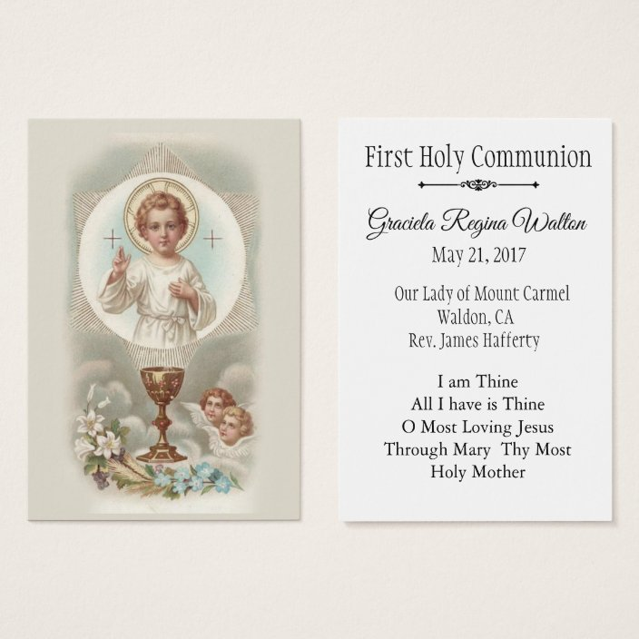 Remembrance Holy Card Jesus First Holy Communion Zazzle.com