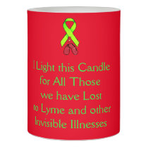 Remembrance Lyme Disease Awareness Candle